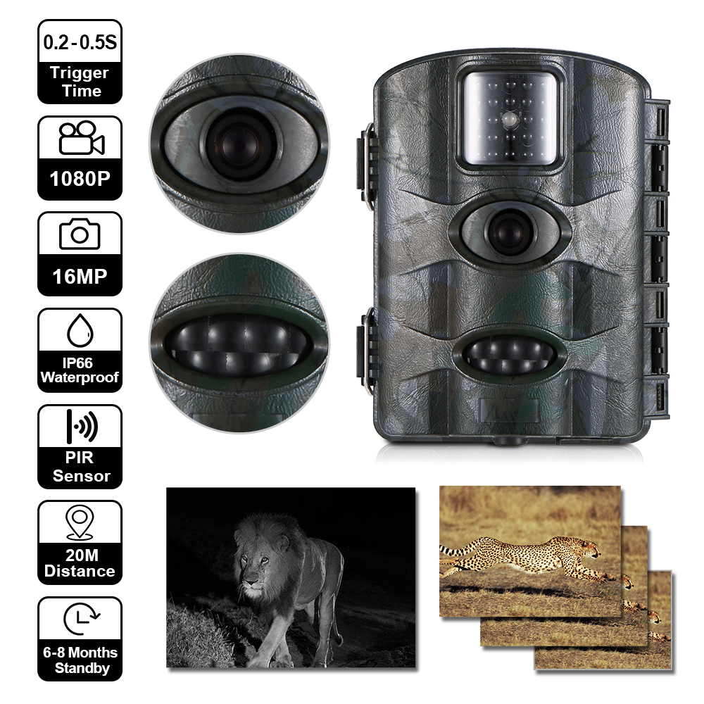 M330 IP66 Waterproof 16MP PIR Sensor Infrared Night Vision Hunting Camera Wildlife Trail Track