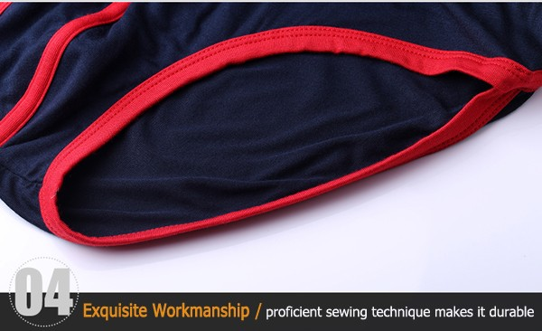 Sexy Mens Sports Briefs U Convex Pouch Color Splicing Underwear