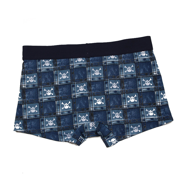 Mens Skull Plaid Printing Fashion Casual Ice Silk Underwear