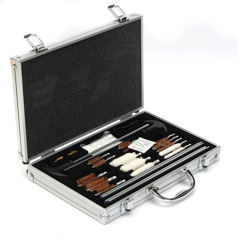 106pcs Universal Gun Cleaning Kit Handgun Shotgun Firearm Gun Cleaner with Aluminum Carry Case