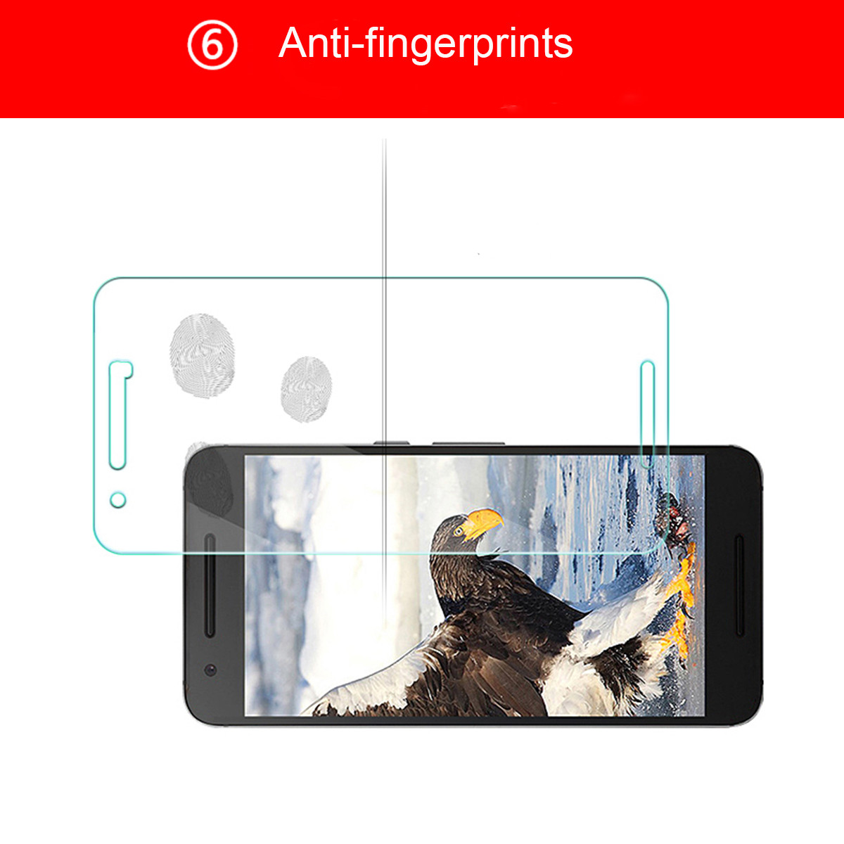 2PCS 9H Anti Explosion Screen Protector for Huawei Google Nexus 6P
