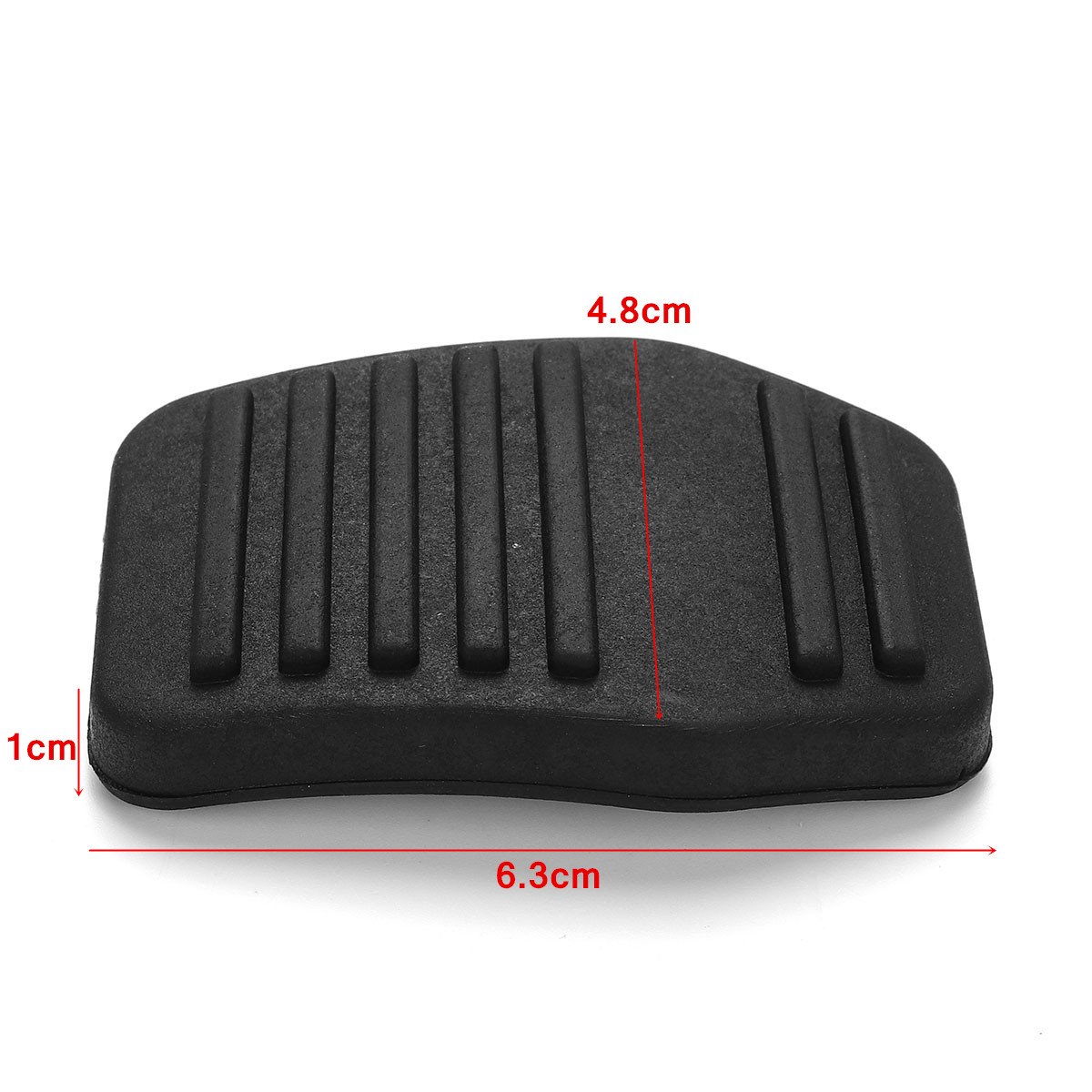 2Pcs Rubber Non-slip Car Pedal Pad Brake & Clutch Protector Cover for Ford Transit MK6 MK7