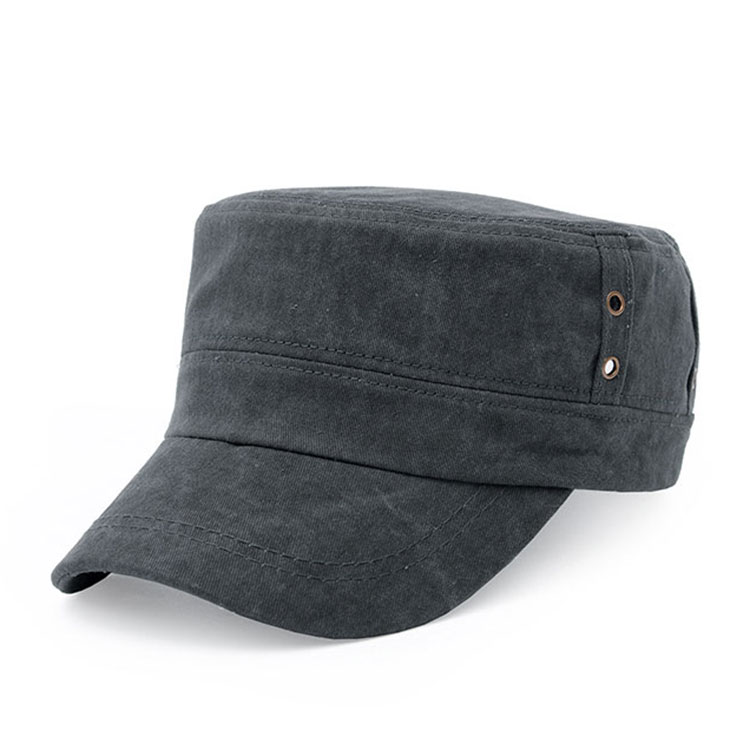 Men Cotton Flat Vintage Washed Cap Air Hole Stitching Retro Polo Baseball Hat Adjustable