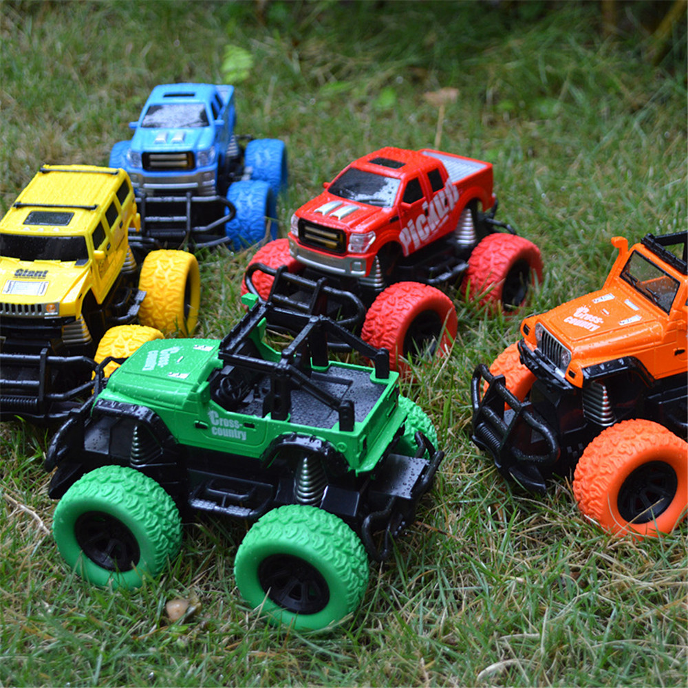 Tensheng 1/28 27MHZ 4CH Rc Car Monster Off-road Truck Vehicle W/ Light Without Battery Toy
