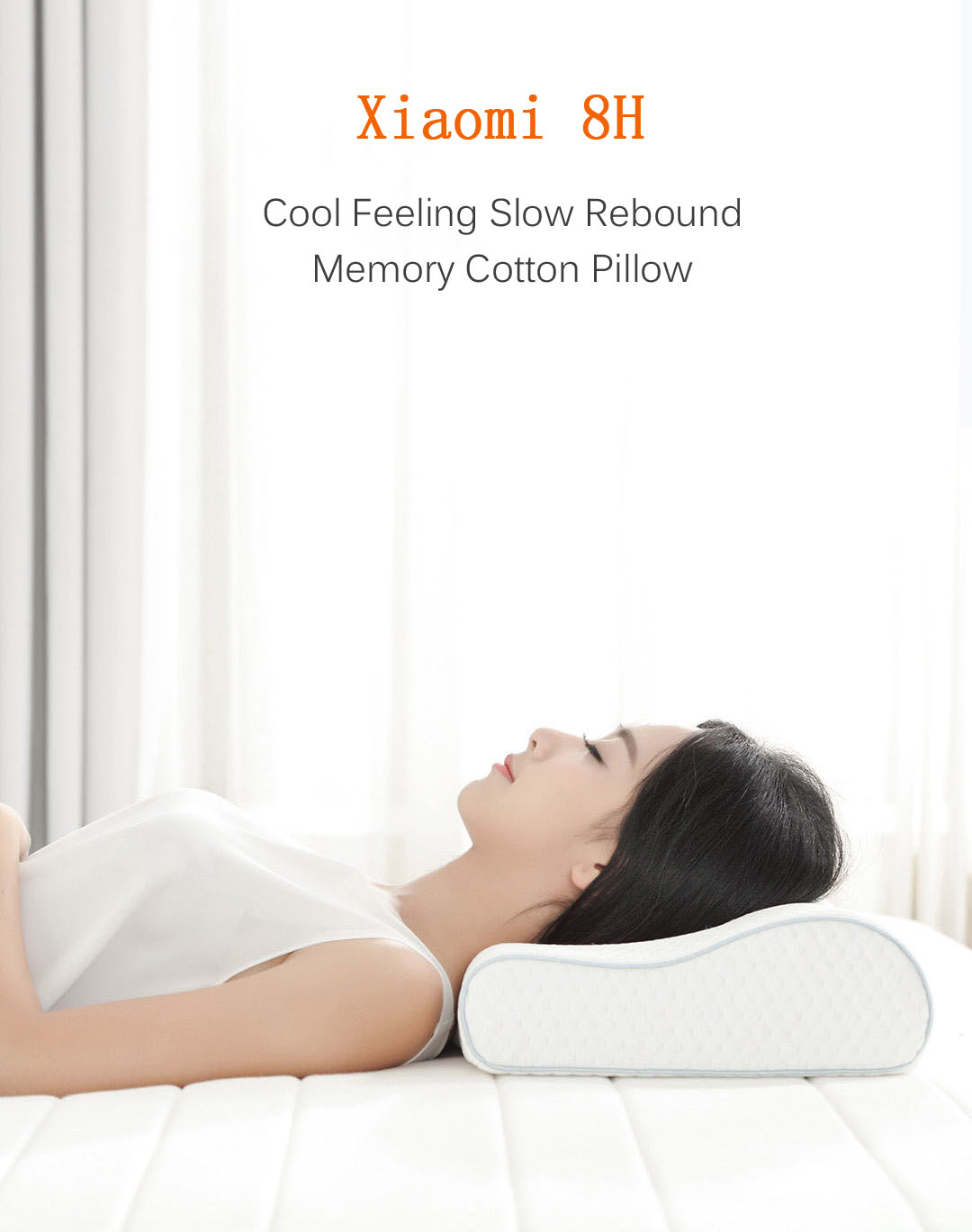 Xiaomi 8H Cool Feeling Slow Rebound Memory Cotton Pillow H1 Super Soft Antibacterial Neck Support Pillow