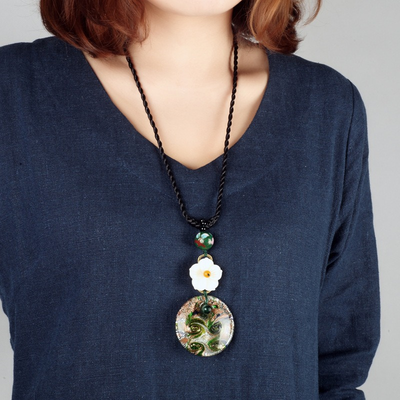 Vintage Colored Glass Necklace