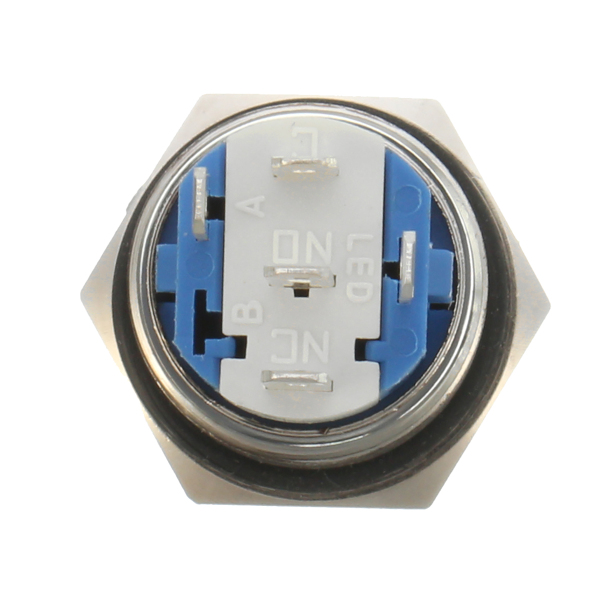 16mm 12V Metal Push Button Switch LED Latching On/Off Socket Plug Wire Push Switch