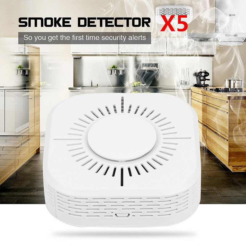 DC 9V 360° Wireless Smoke Detector Fire Alarm Sensor Home Security System Cordless
