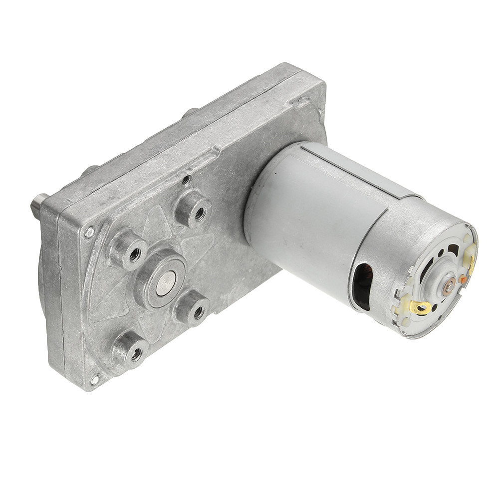DC 12V 6000RPM Gear Motor 5RPM Square Electric Drive Motor