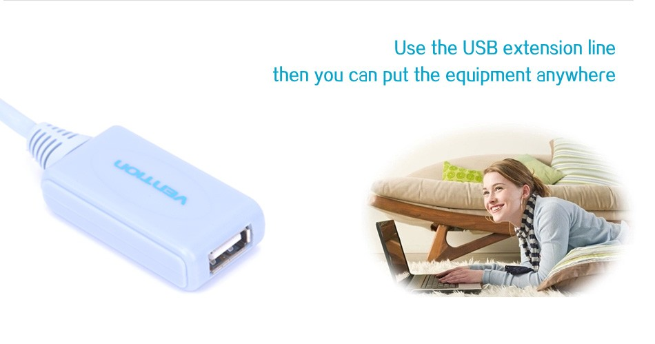 Vention VAS-C01 5/10M USB 2.0 Extender Cable Typle A Male to Type A Female Extender