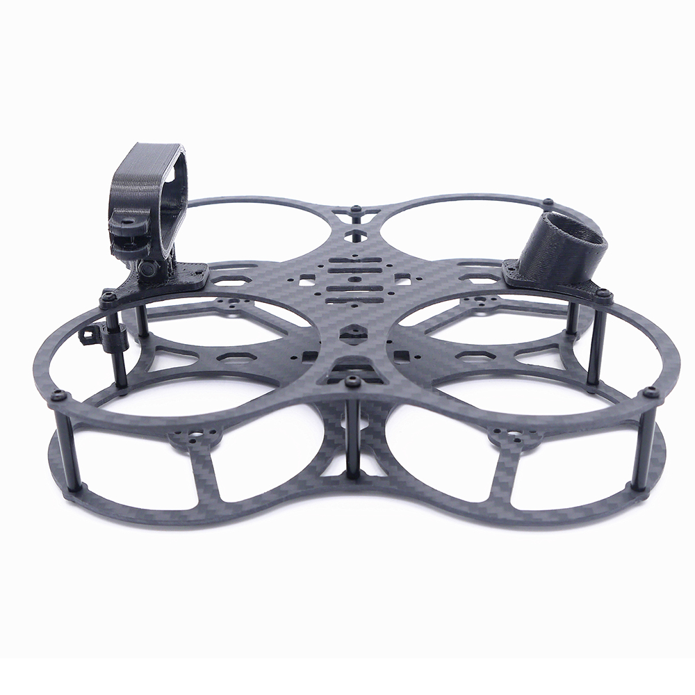 Hornet 115m Wheelbase 2.5 Inch Black/Red Frame Kit With Camera Mount for Whoop / Cinewhoop RC Drone FPV Racing