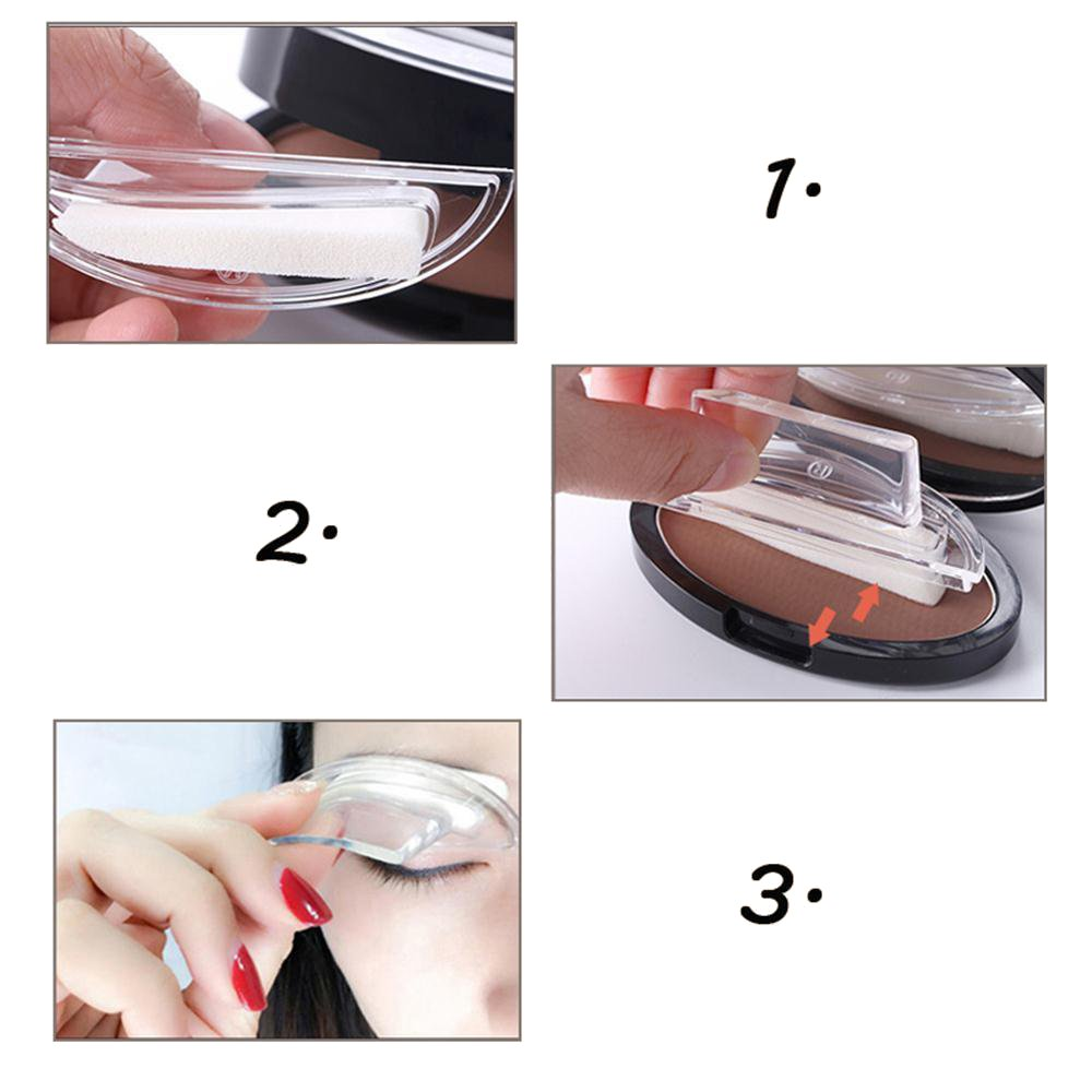 1Pair Waterproof Eyebrow Stamp 3 Style Model Eye Brow Powder Palette Delicated Makeup Tool