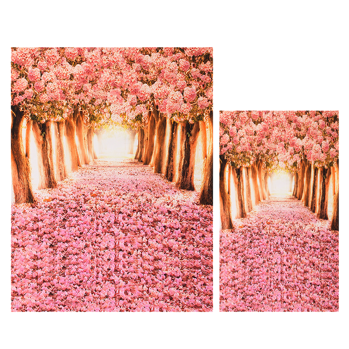 Cherry Blossom Grove Forest Theme Photography Vinyl Backdrop Studio Background 2x1.5m 1.5x0.9m