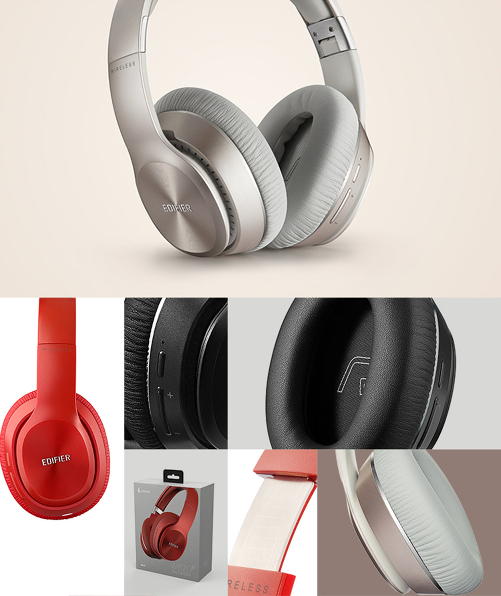 EDIFIER W820BT bluetooth Headphone Wireless Over-Ear Hifi Noise Isolation Stereo Headset With Mic for Phone Tablet