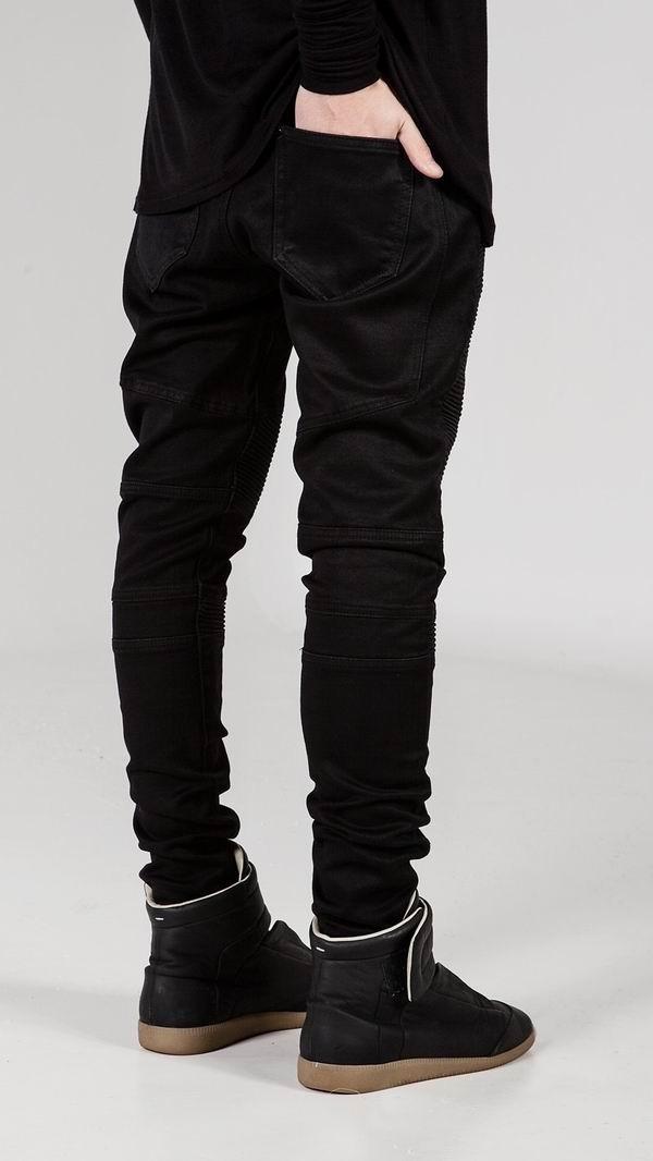 Mens Fashion Skinny Jeans Elastic Runway Slim Denim Biker Jeans Hiphop Pants