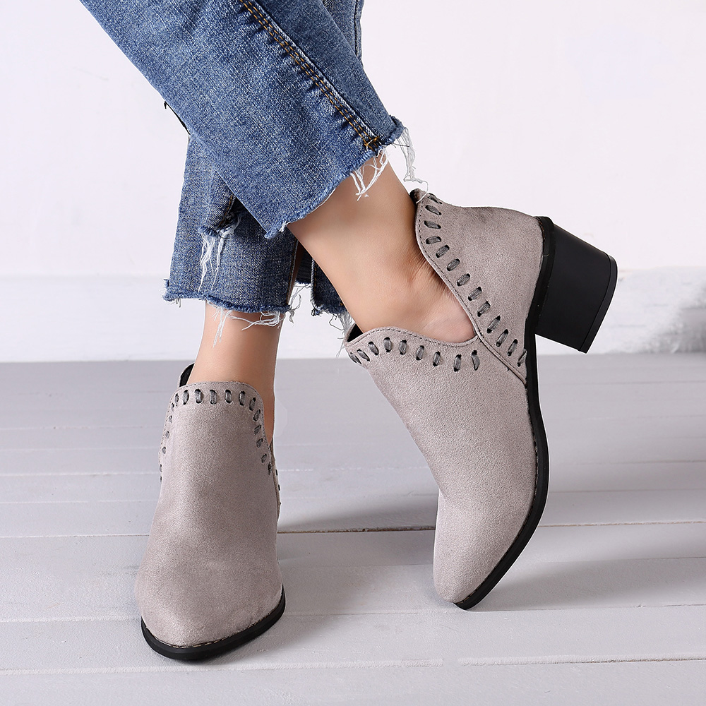 Women Pointed Toe Ankle Booties Chelsea Boots