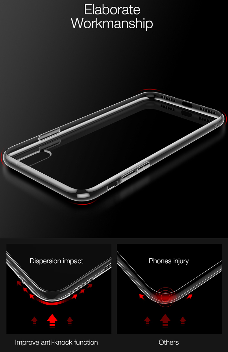 Bakeey Protective Case For iPhone XS Max Clear Transparent Soft TPU Back Cover