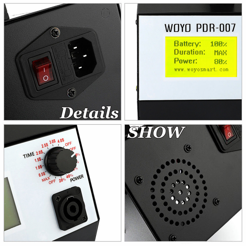 WOYO PDR007 Induction Heater for Removing Dents Sheet Metal Repair Tools Dent and Ding Removal Kit