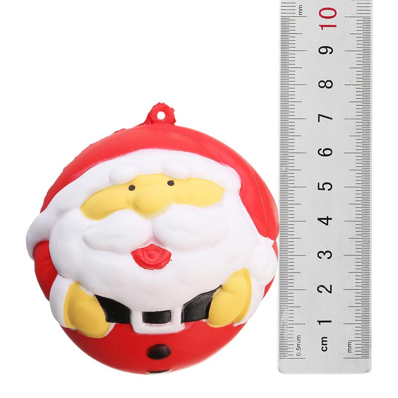 4PCS Christmas Gift Squishy Teacup Deer 14CM Santa Claus 7CM Snow Boot 11CM Gold Ball 9CM