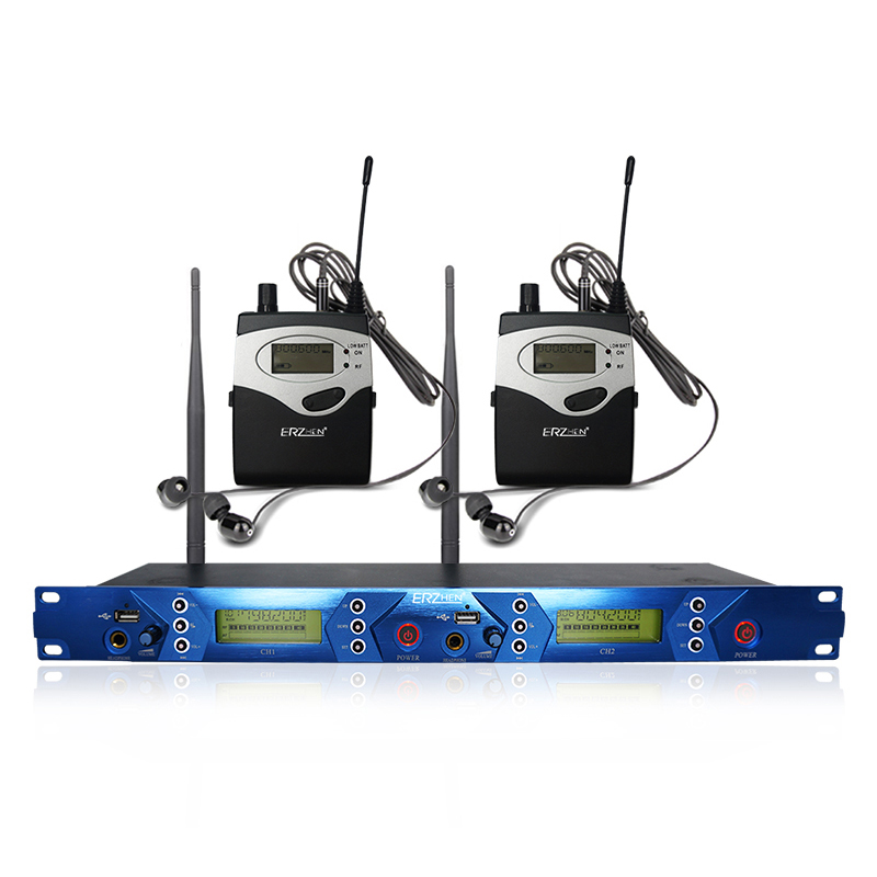 ERZhen One to Two In Dual Channel Wireless Transmission Monitoring Karaoke Microphone System