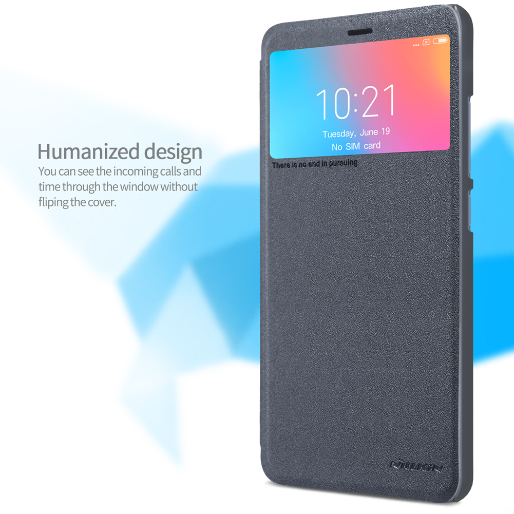 Nillkin Flip Sleep Function View Window PU Leather Full Protective Case For Xiaomi Redmi 6