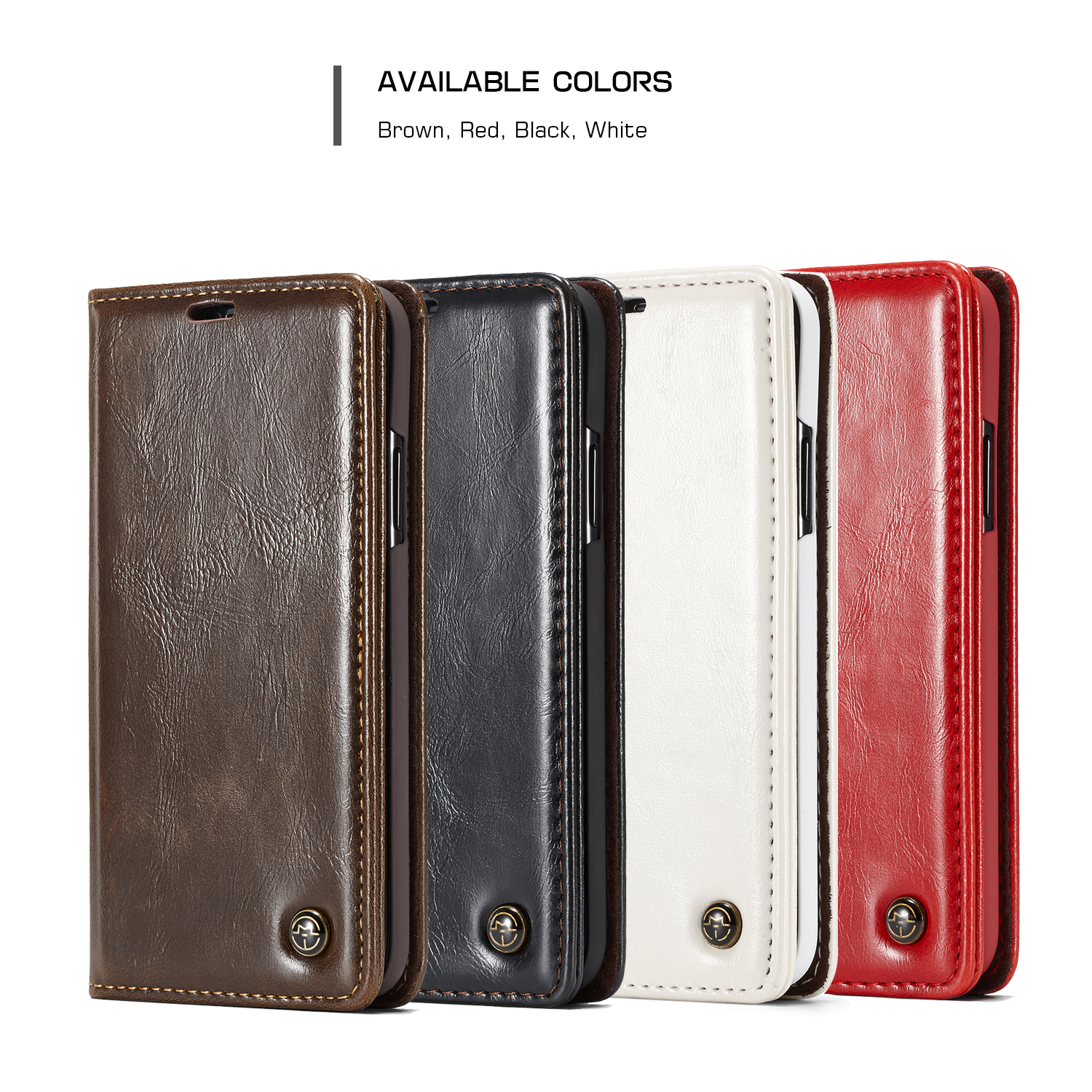 Caseme Magnetic Flip Wallet Card Slot Kickstand Protective Case For iPhone XS/X