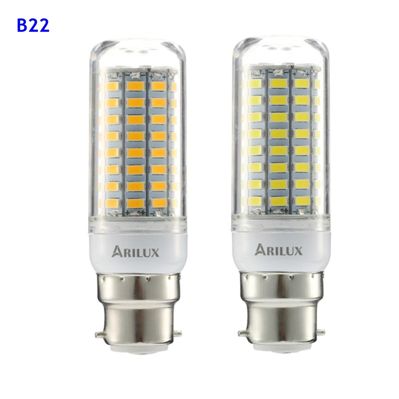 ARILUX® E27 E14 B22 GU10 G9 5W SMD5730 Constant Current Smart IC 89LEDs Corn Light Bulb AC220V