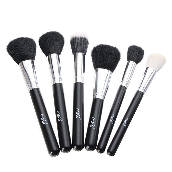MSQ 29Pcs Black Makeup Brushes Set Powder Blush Eyeshadow Brush Professional Comestic Tool with Bag