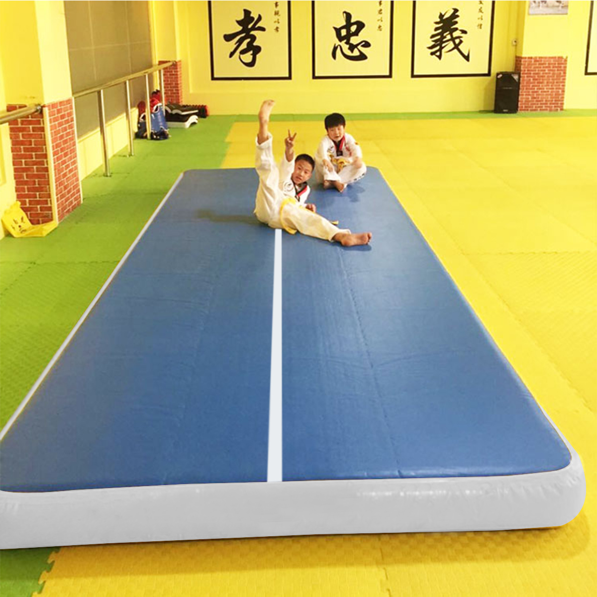196.8x39.3x7.8 inch Inflatable GYM Air Track Mat Home Airtrack Gymnastics Mat Floor Tumbling Rolling Pad