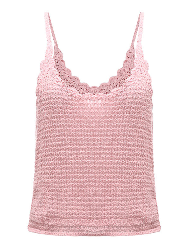 Sexy Casual Women Strap Knit Crop Top