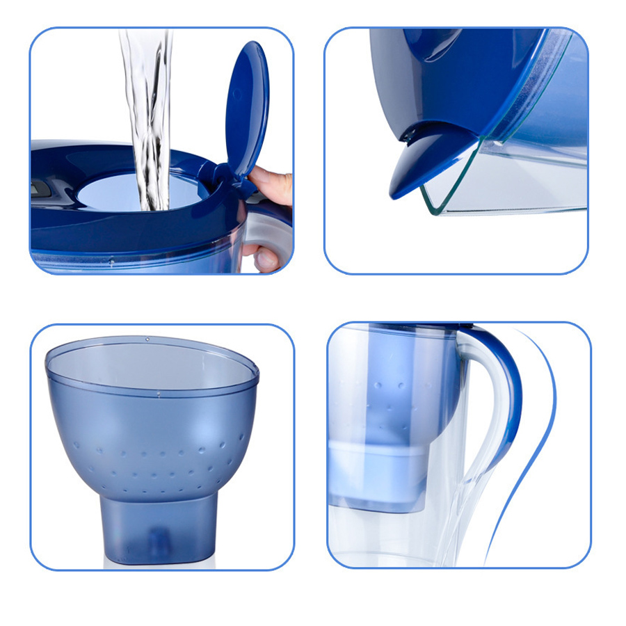 KCASA KC-WPR01 3.5 Liters Alkaline Water Pitcher Portable Activated Carbon Water Filter Water Purifier
