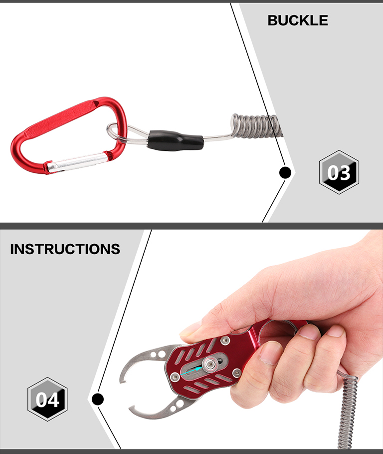 Seaknight 2 Colors Fishing Grip Stainless Steel Fish Lip Grabber Fish Pliers Control Clamp Tool