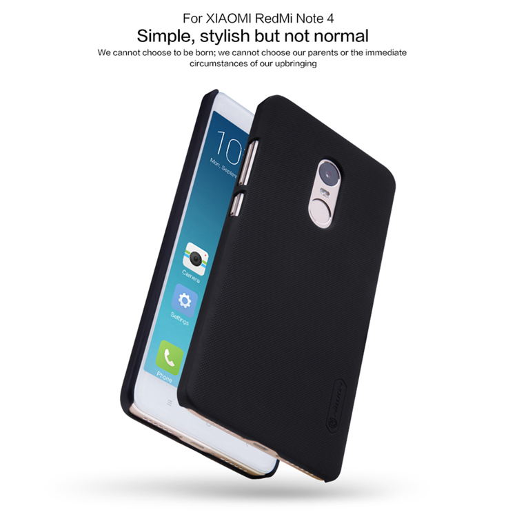 NILLKIN Frosted Shield Matte PC Hard Back Cover Case For Xiaomi Redmi Note 4