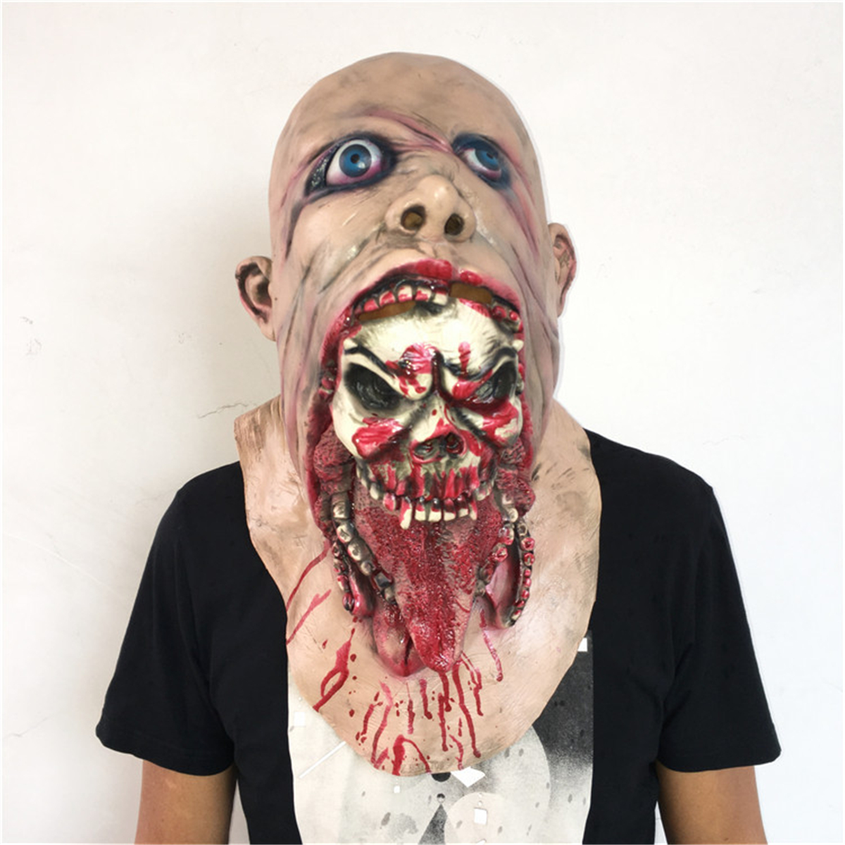 Halloween Bloody Zombie Mask Melting Face Adult Latex Costume Walking Dead Halloween Supplies