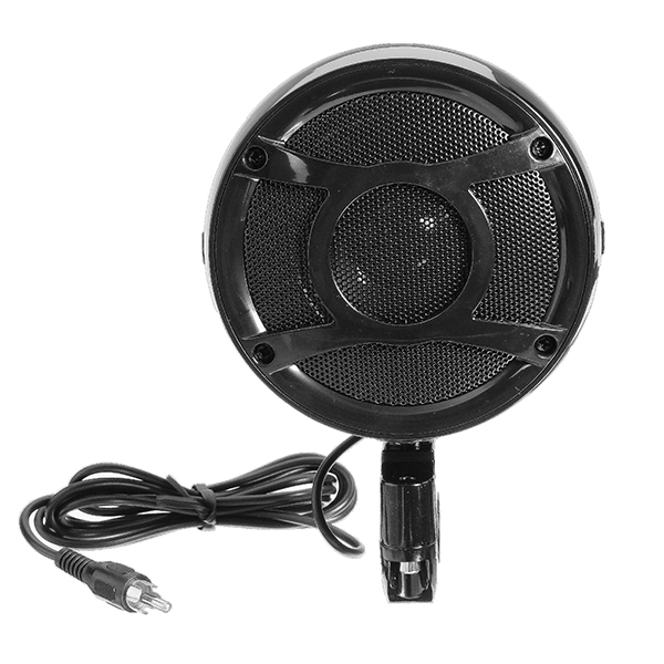 Pair Motorcycle Bike Waterproof Speaker Amplifier Music Horn 3.5 inch Black