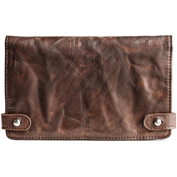 Men Card Holder Long Wallet Phone Bag Vintage Purse