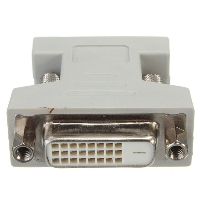 DVI-D 24+1 Dual Link Female to VGA Male 15 Pin Connector Adapter Converter