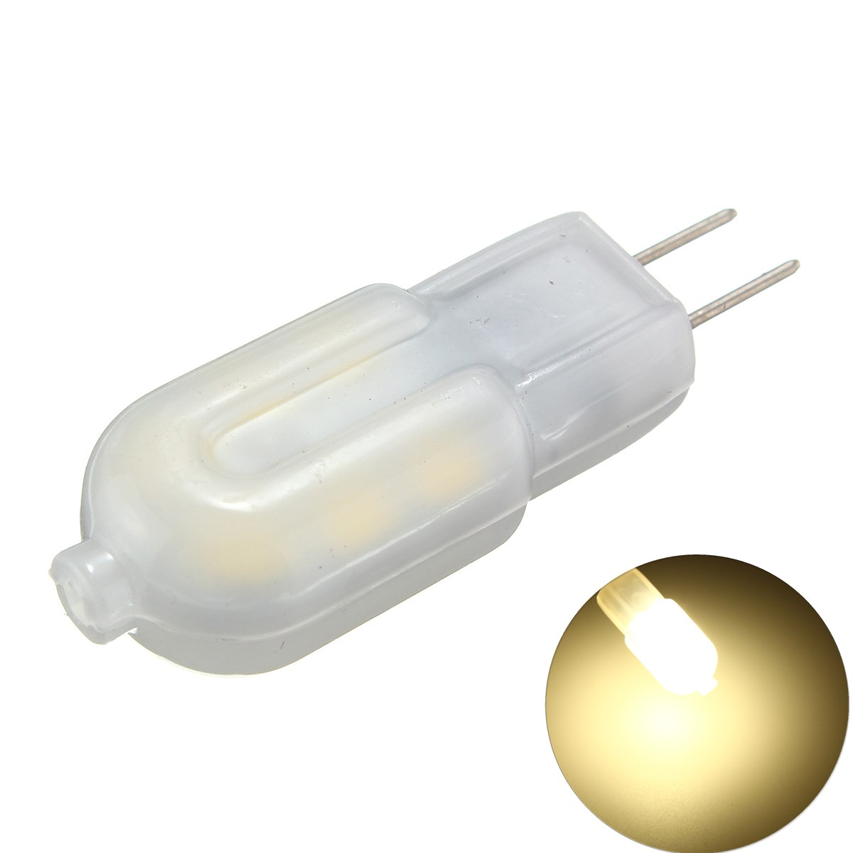 6PCS DC12V G4 2W Non-dimmable SMD2835 Natural White Milk Cover LED Light Bulb for Indoor Home Decor