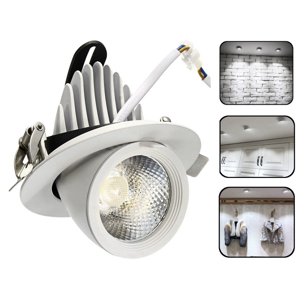 5W 7W 12W 15W 20W 30W LED COB Dimmable Ceiling Lamp Adjustable Dowm Light Spotlight Flush Mount Fixture