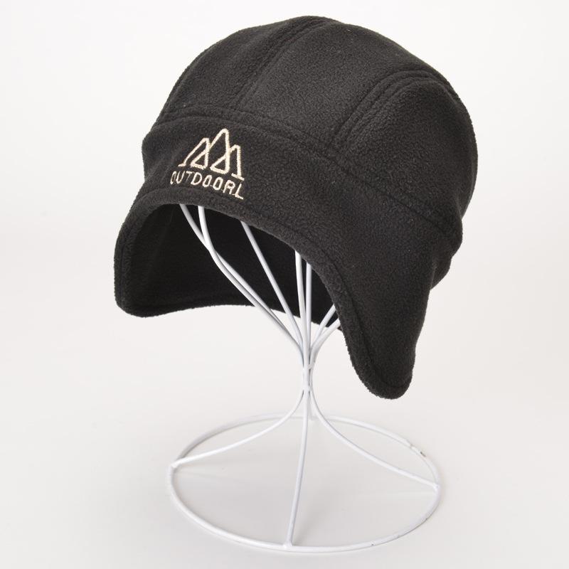 Men Women Outdoor Windproof Ear Flaps Fleece Beanie Hats Casual Warm Sports Caps