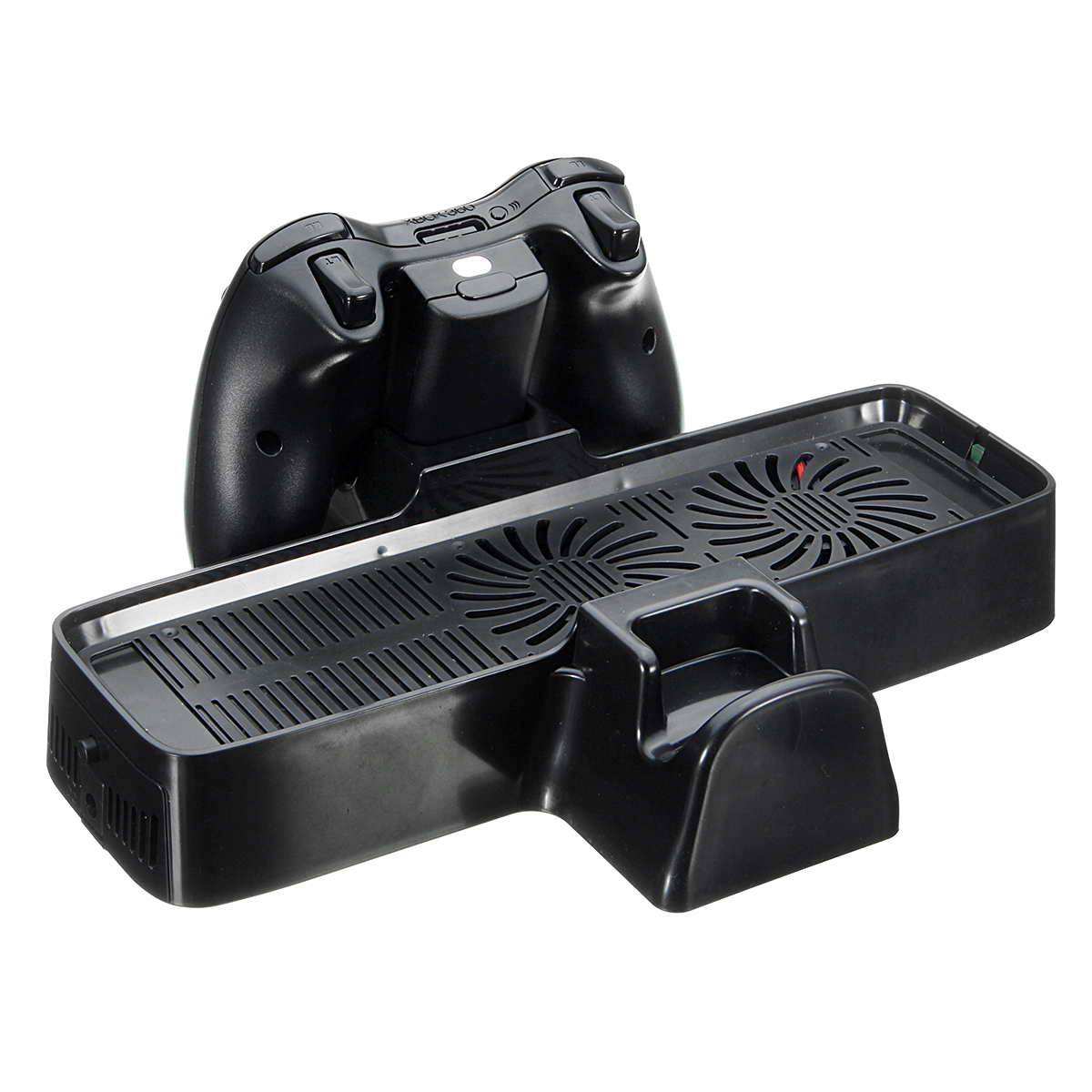Multifunction 3 in 1 Vertical Charging Dock Station Cooling Fan Stand For Xbox 360