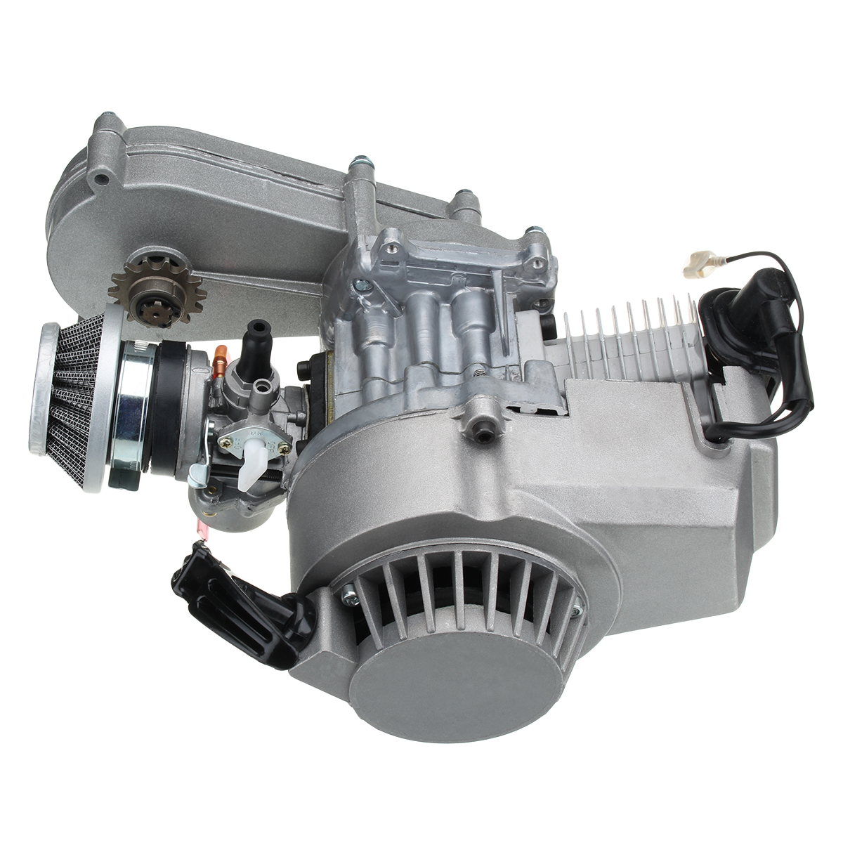 49cc Engine with Carburetor Gearbox Pull Start Coil For