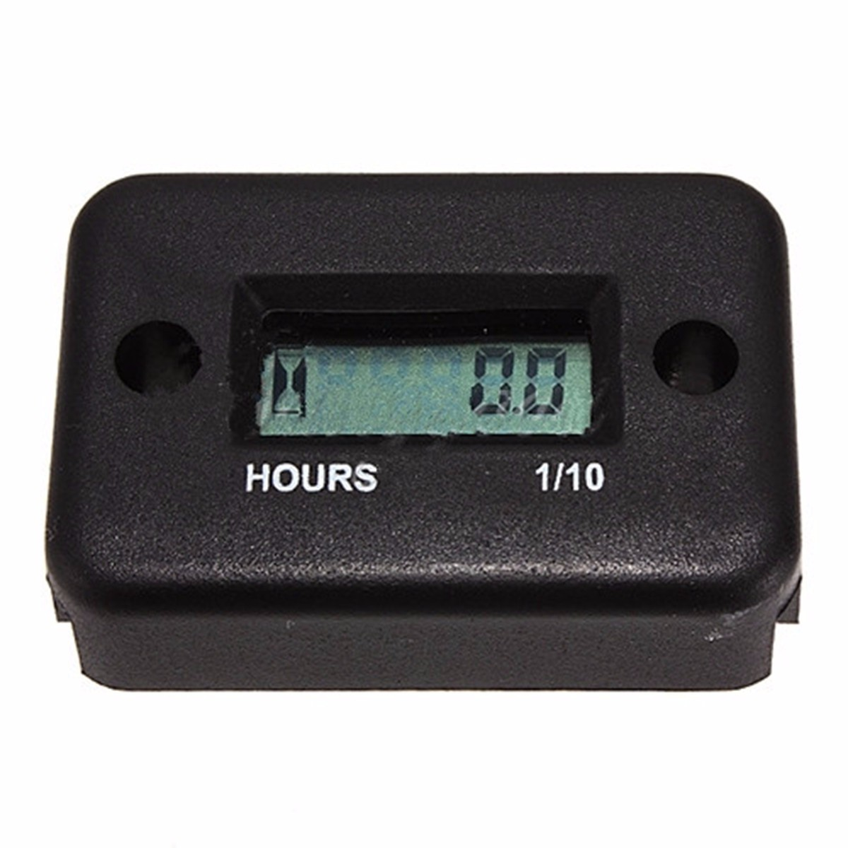 Black Motorcycle ATV Snowmobile Boat Ski Waterproof Hour Meter