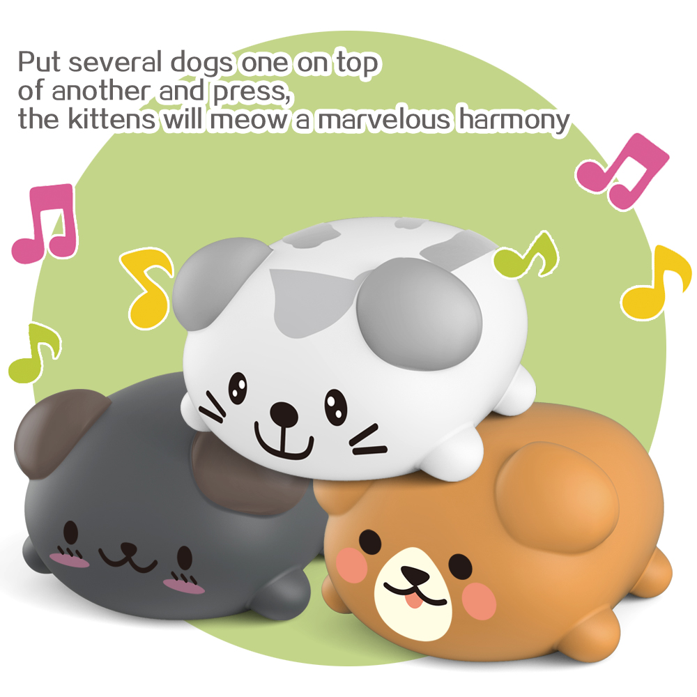 MOEYOUTH 8PCS/Set Musical Scale Dog Puppy Touch Sensitive Piano Learning Funny Novelties Toys With Packing