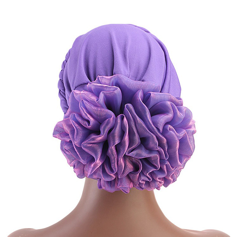 Women Vintage Ethnic Style Braid Breathable Turban Cap