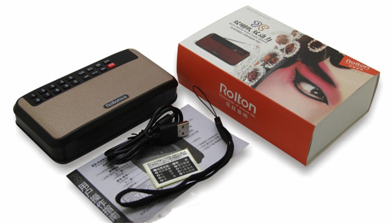 Rolton T60 Portable MP3 Stereo Player Audio Speakers FM Radio With LED Screen Support Tf Card Play