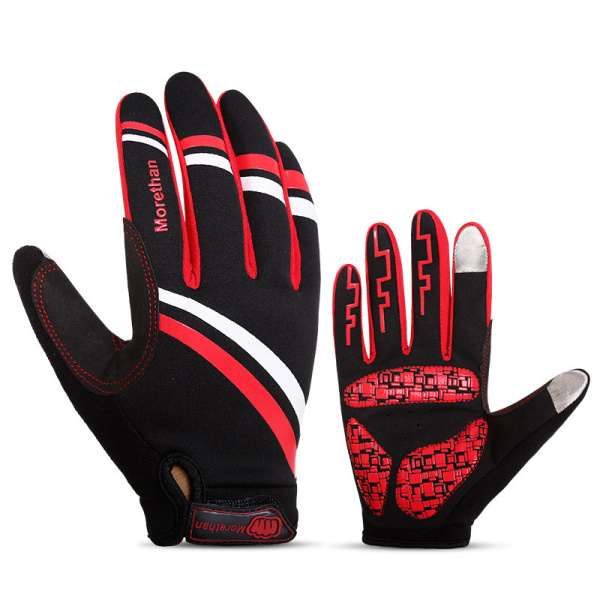 Mens Anti Skid Shock Absorption Cycling Sport Gloves Touch Screen Winter Warm Ski Mittens