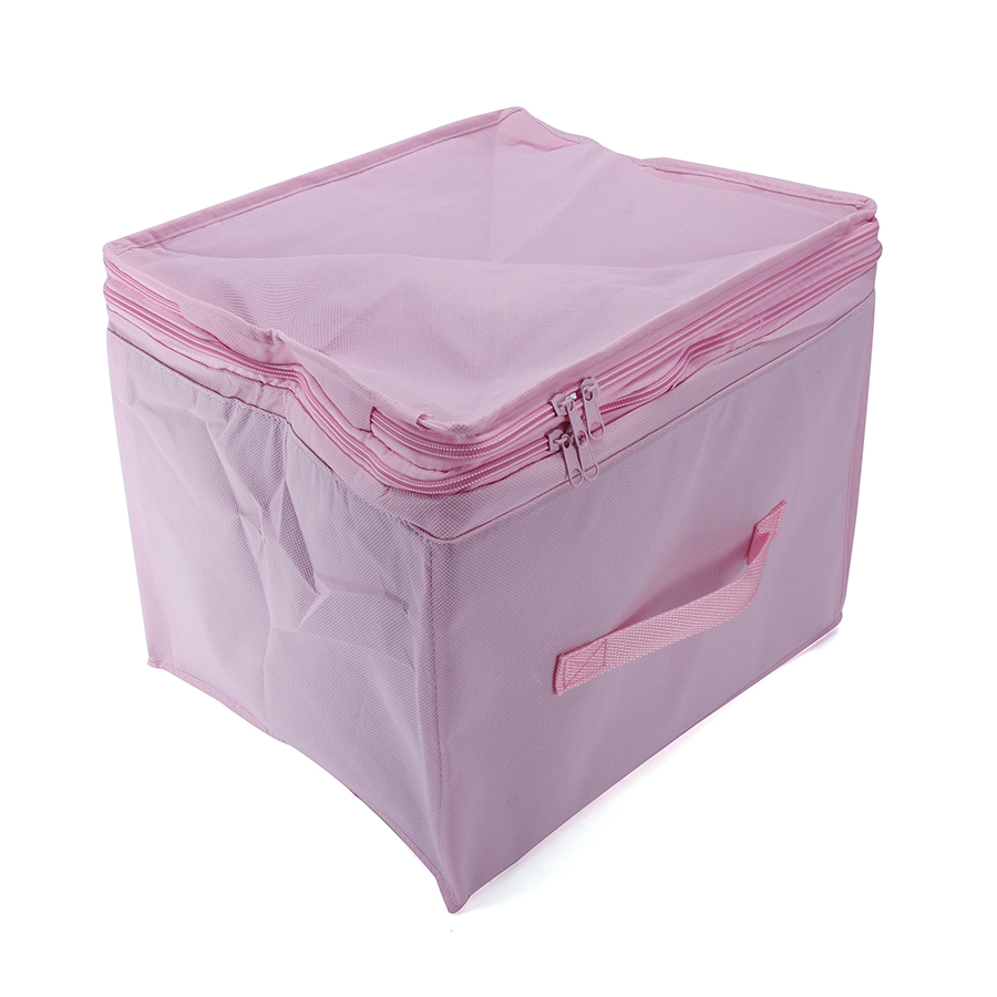 Visible Clothes Storage Bag Non-woven Bamboo Charcoal Organizer Portable for Pillow Quilt Blanket Bedding