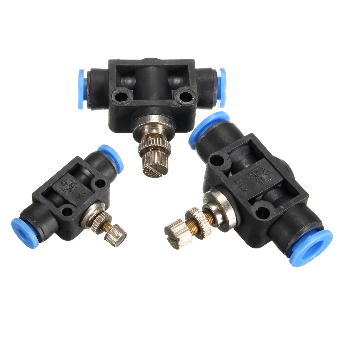 4mm 6mm 8mm OD Airflow Speed Control Valve Tube Hose Water Pneumatic Push In Fitting