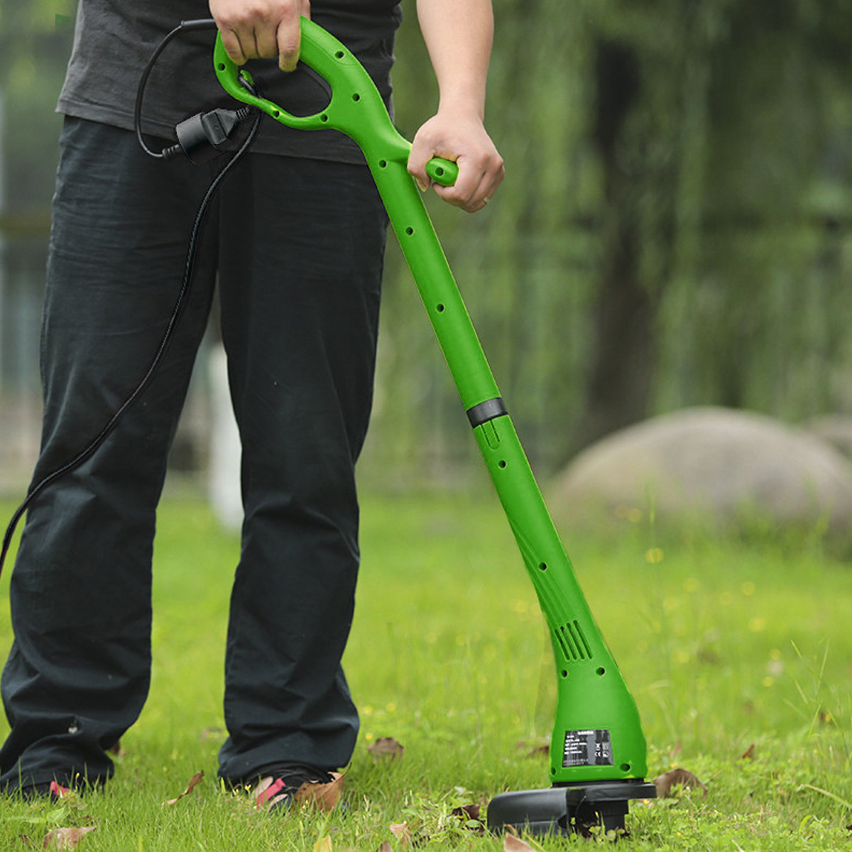 Foldable Electric Grass Trimmer Strimmer Cutter Lawnmower Heavy Duty Lawn Pruning